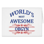 World's Most Awesome OBGYN Greeting Card