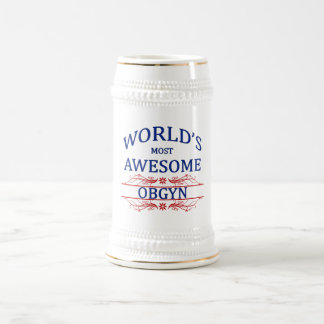 World's Most Awesome OBGYN 18 Oz Beer Stein