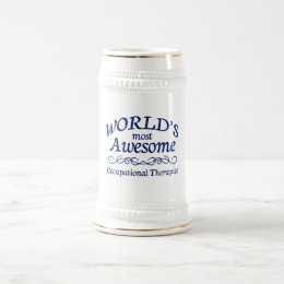 World's Most Awesome Occupational Therapist Beer Stein