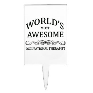 World's Most Awesome Occupational Therapist Cake Topper