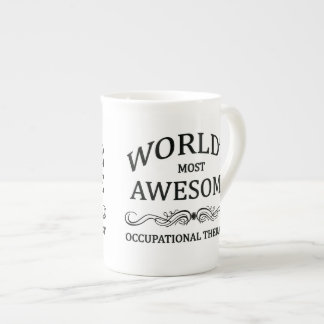 World's Most Awesome Occupational Therapist Porcelain Mugs