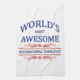 World's Most Awesome Occupational Therapist Towel