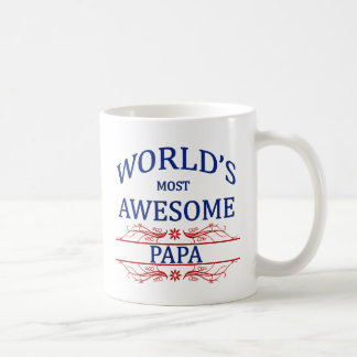 World's Most Awesome Papa Classic White Coffee Mug