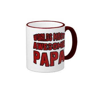 Worlds Most Awesome Papa Ringer Mug
