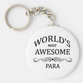 World's Most Awesome Para Basic Round Button Keychain