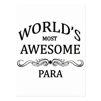 World's Most Awesome Para Postcard