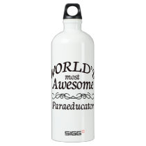 World's Most Awesome Paraeducator Aluminum Water Bottle