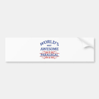 World's Most Awesome Paralegal Bumper Sticker