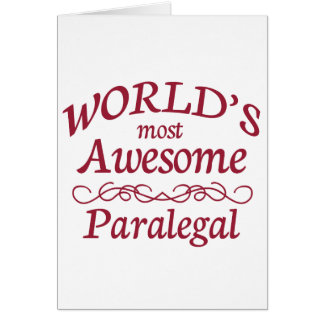 World's Most Awesome Paralegal Card