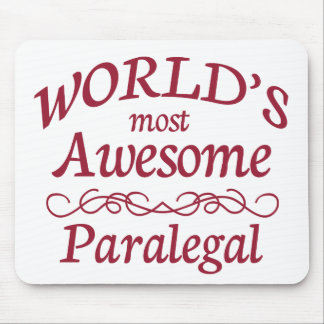 World's Most Awesome Paralegal Mouse Pad