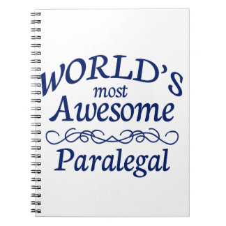 World's Most Awesome Paralegal Notebooks