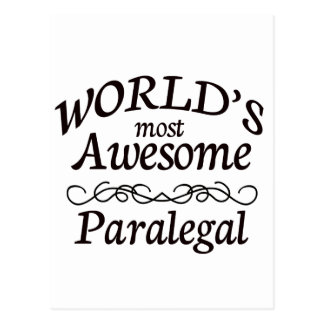 World's Most Awesome Paralegal Postcard