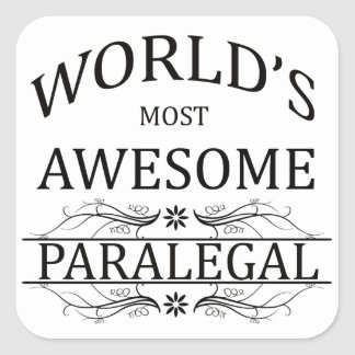 World's Most Awesome Paralegal Square Sticker