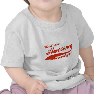World's Most Awesome paralegal T Shirt