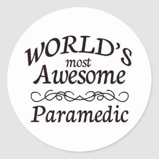 World's Most Awesome Paramedic Classic Round Sticker