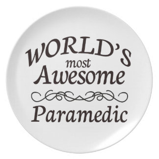 World's Most Awesome Paramedic Party Plates