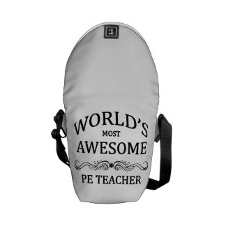 World's Most Awesome PE Teacher Courier Bag