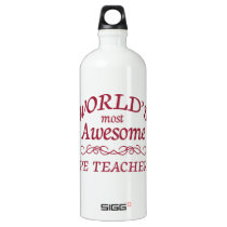World's Most Awesome PE Teacher Water Bottle