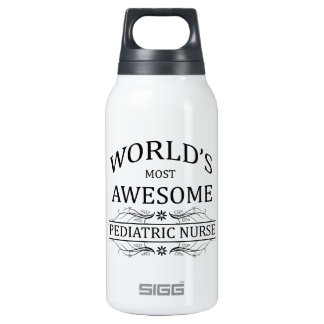 World's Most Awesome Pediatric Nurse Thermos Bottle