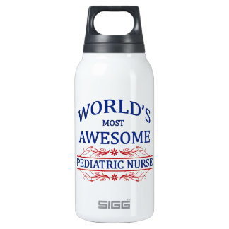 World's Most Awesome Pediatric Nurse Thermos Water Bottle