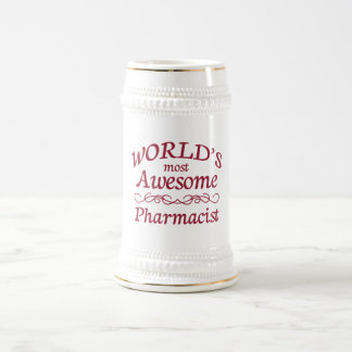 World's Most Awesome Pharmacist 18 Oz Beer Stein