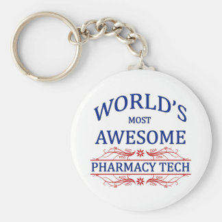 World's Most Awesome Pharmacy Tech Keychain