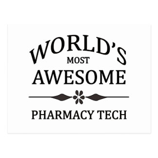 World's Most Awesome Pharmacy Tech Postcard