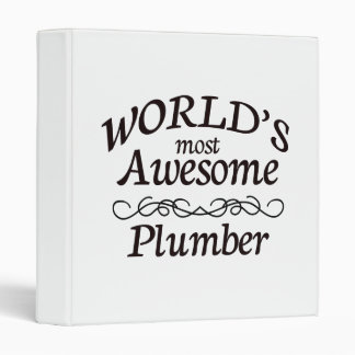 World's Most Awesome Plumber Binder