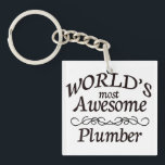 """World&#39;s Most Awesome Plumber Keychain<br><div class=""""desc"""">Fun gift for the world&#39;s most awesome plumber</div>"""