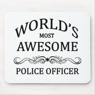 World's Most Awesome Police Officer Mouse Pad