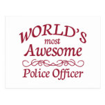 World's Most Awesome Police Officer Post Card