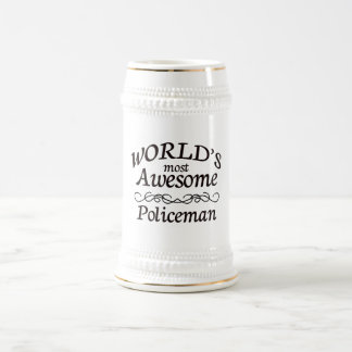 World's Most Awesome Policeman Beer Stein