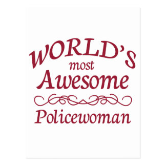 World's Most Awesome Policewoman Post Card