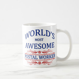 World's Most Awesome Postal Worker Classic White Coffee Mug