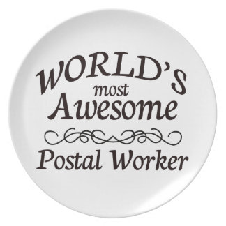 World's Most Awesome Postal Worker Plate