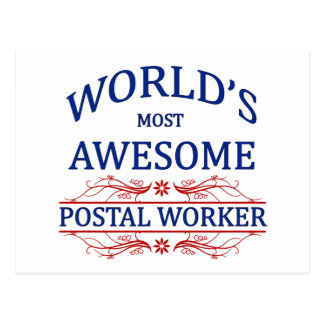 World's Most Awesome Postal Worker Postcard