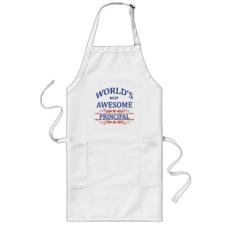 World's Most Awesome Principal Long Apron