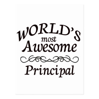 World's Most Awesome Principal Postcard