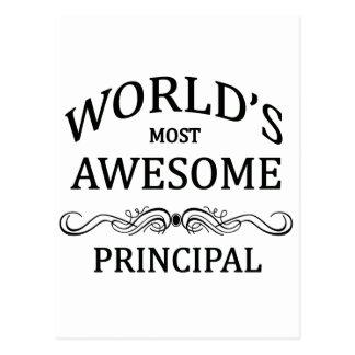 World's Most Awesome Principal Postcard