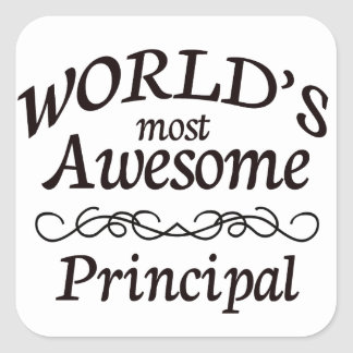 World's Most Awesome Principal Square Sticker