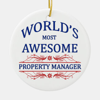 World's Most Awesome Property Manager Ceramic Ornament