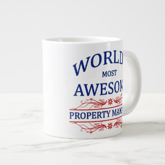 World's Most Awesome Property Manager Giant Coffee Mug
