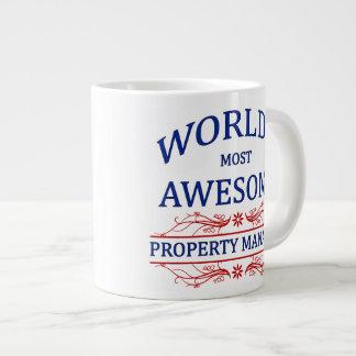 World's Most Awesome Property Manager 20 Oz Large Ceramic Coffee Mug