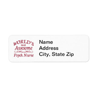World's Most Awesome Psych Nurse Return Address Label