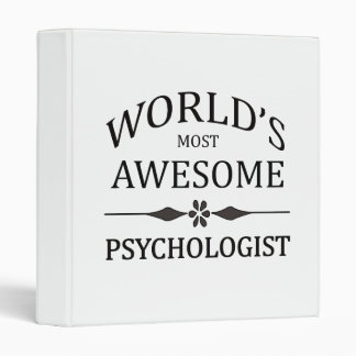 World's Most Awesome Psychologist Binder