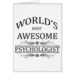 World's Most Awesome Psychologist Card
