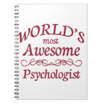 World's Most Awesome Psychologist Note Books