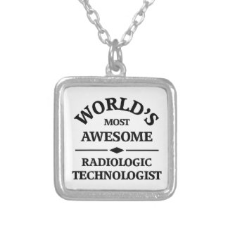 World's most awesome Radiologic Technology Silver Plated Necklace