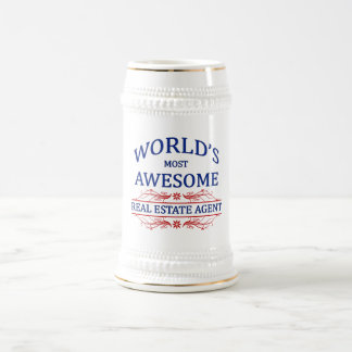 World's Most Awesome Real Estate Agent Beer Stein