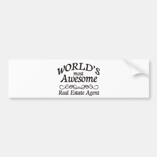 World's Most Awesome Real Estate Agent Bumper Sticker